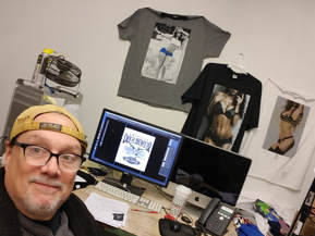 Lou Pucci - graphic artist and screen printer