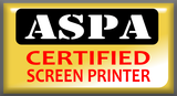 ASPA Certified Screen Printer badge
